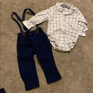 Carters suspenders outfit
